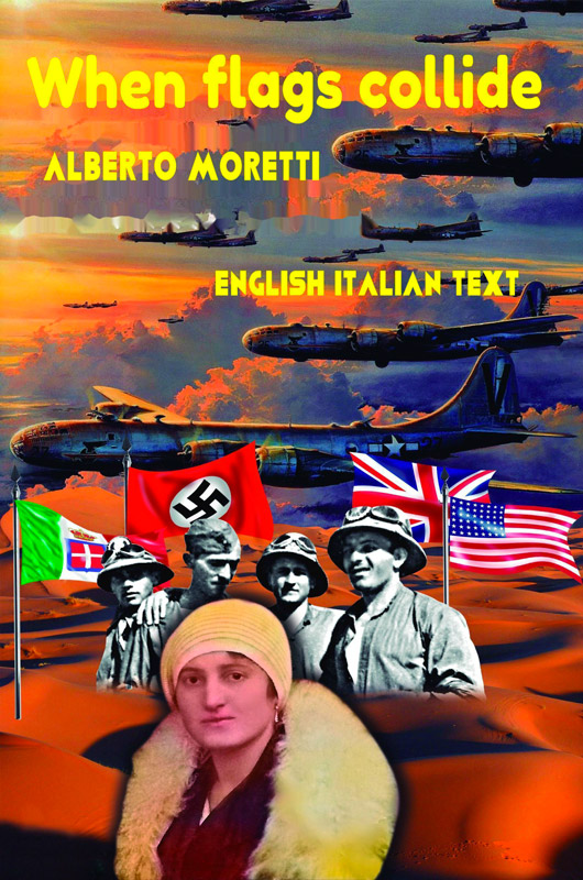 Cover When flags collide english/italian text
